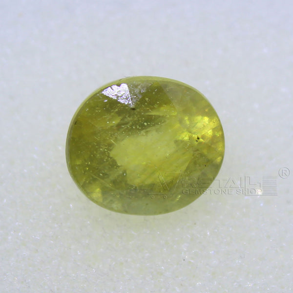 4.80 Carat good quality Bangkok natural yellow sapphire - 1 Mukhi Rudraksha