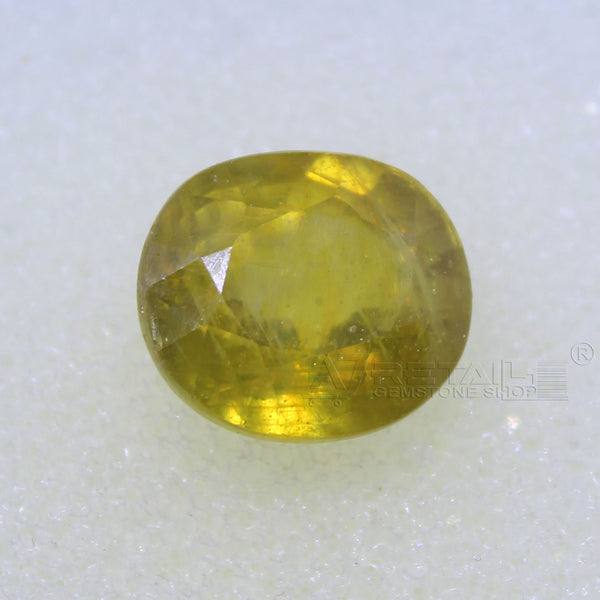 4.85 Carat good quality Bangkok natural yellow sapphire - 1 Mukhi Rudraksha