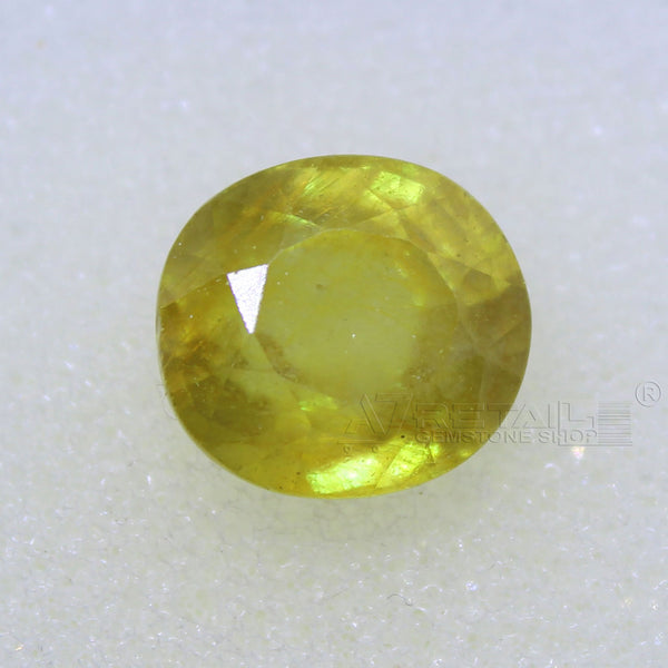 4.95 Carat good quality Bangkok natural yellow sapphire - 1 Mukhi Rudraksha