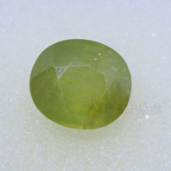 5.20 Carat good quality Bangkok natural yellow sapphire - 1 Mukhi Rudraksha