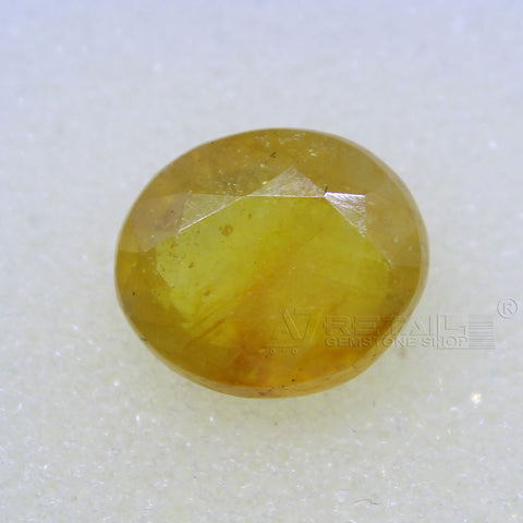 5.25 Carat good quality Bangkok natural yellow sapphire - 1 Mukhi Rudraksha