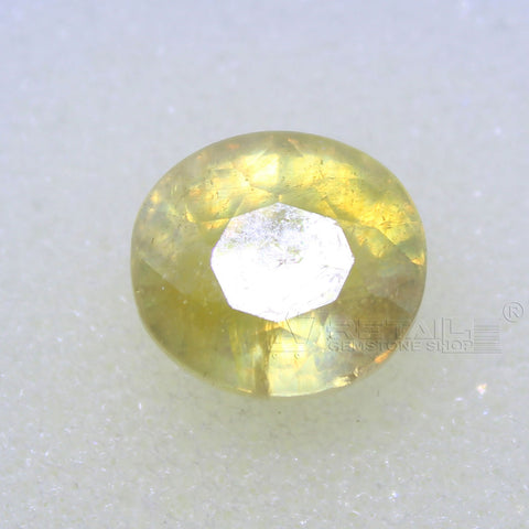 5.45 Carat good quality Bangkok natural yellow sapphire(A) - 1 Mukhi Rudraksha