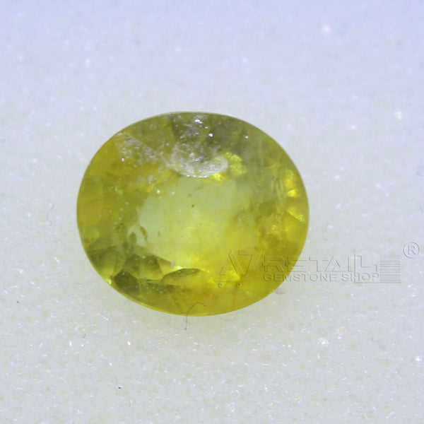 3.70 Carat good quality Bangkok natural yellow sapphire(C) - 1 Mukhi Rudraksha