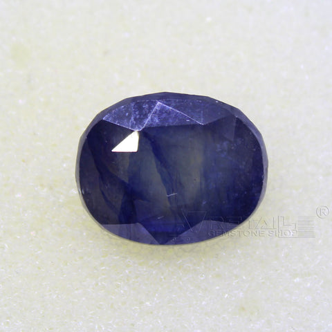 Certified Natural Blue Sapphire 7.70 Carat | 8.25 Ratti Neelam Gemstone500PCB@ AJRETAIL