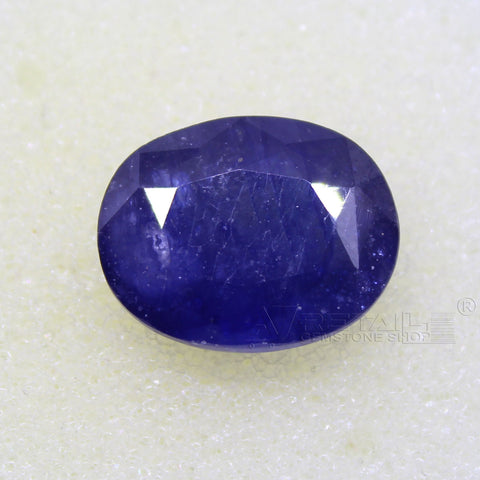 Certified Natural Blue Sapphire 7.82 Carat | 8.30 Ratti Neelam Gemstone500PCB@ AJRETAIL