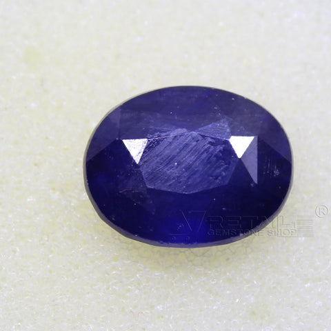 Certified Natural Blue Sapphire 8.03 Carat | 8.60 Ratti Neelam Gemstone500PCB@ AJRETAIL