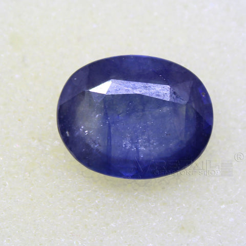 Certified Natural Blue Sapphire 8.09 Carat | 8.65 Ratti Neelam Gemstone500PCB@ AJRETAIL