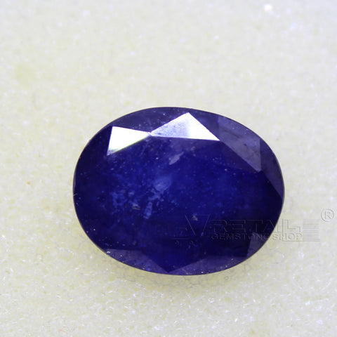 Certified Natural Blue Sapphire 8.46 Carat | 9.05 Ratti Neelam Gemstone500PCB@ AJRETAIL