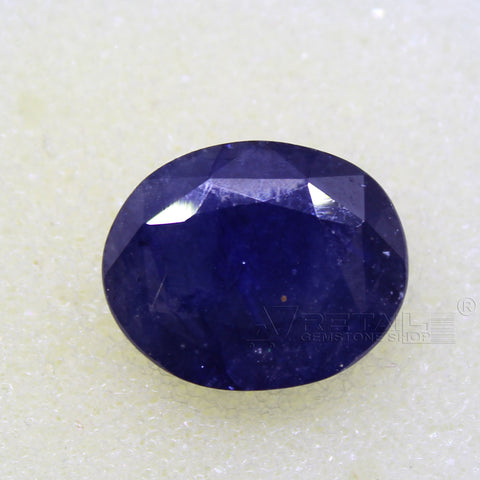 Certified Natural Blue Sapphire 8.62 Carat | 9.15 Ratti Neelam Gemstone500PCB@ AJRETAIL