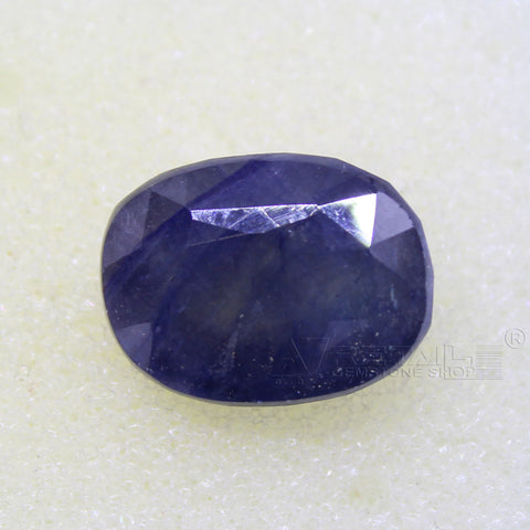 Certified Natural Blue Sapphire 8.76 Carat | 9.25 Ratti Neelam Gemstone500PCB@ AJRETAIL