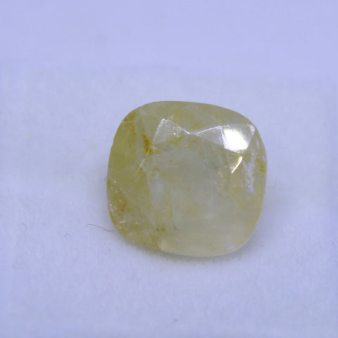 7.125 Carat Natural yellow saphhire (pukhraj) Gemstone with gov. lab. certificate buy online on AJRETAIL - 1 Mukhi Rudraksha
