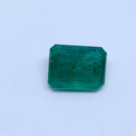 6.165Ct natural emerald(panna) govt. lab certified premium quality by Ajretail - 1 Mukhi Rudraksha