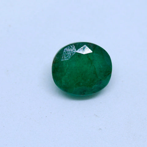 7.04Ct natural emerald(panna) govt. lab certified premium quality by Ajretail - 1 Mukhi Rudraksha