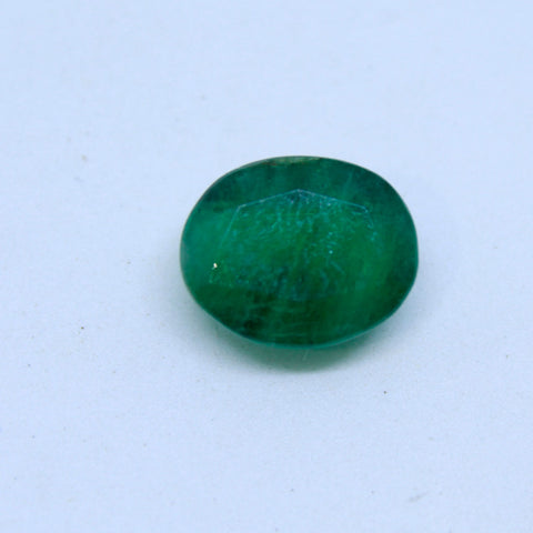 7.375Ct natural emerald(panna) govt. lab certified premium quality by Ajretail - 1 Mukhi Rudraksha