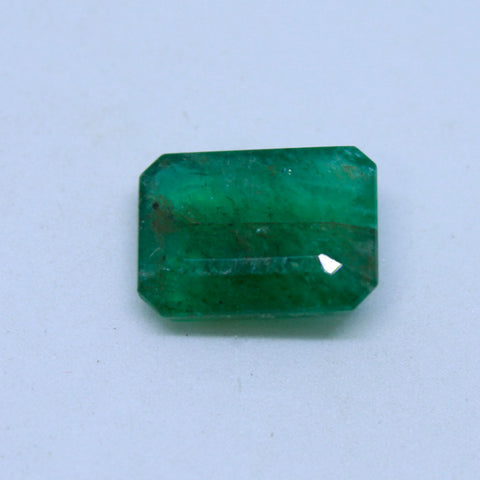 8.08Ct natural emerald(panna) govt. lab certified premium quality by Ajretail - 1 Mukhi Rudraksha