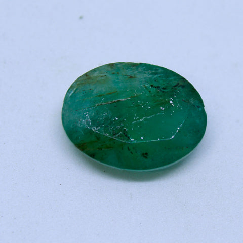 11.30Ct natural emerald(panna) govt. lab certified premium quality by Ajretail - 1 Mukhi Rudraksha