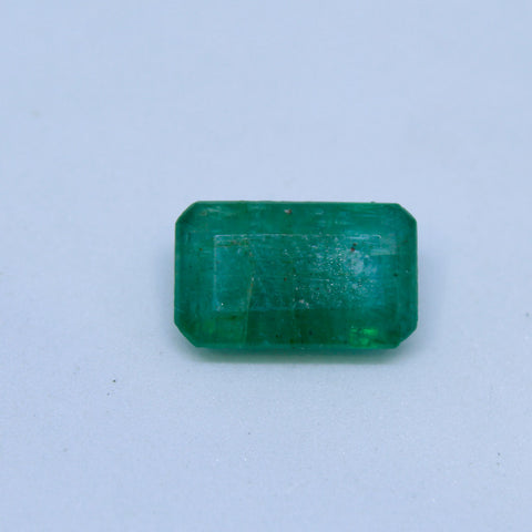 3.10Ct natural emerald(panna) govt. lab certified premium quality by Ajretail - 1 Mukhi Rudraksha