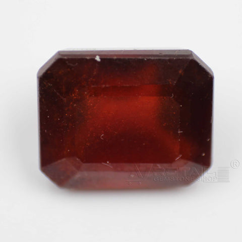 12.35CTs Emerald cut Natural Hessonite Gemstone (Gomedha, Garnet) with lab report by IGL