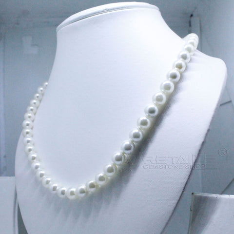 Luxury White Pearl Necklace single layers so Precious A1 Quality for Jewelry just Rs.2000/- only - 1 Mukhi Rudraksha