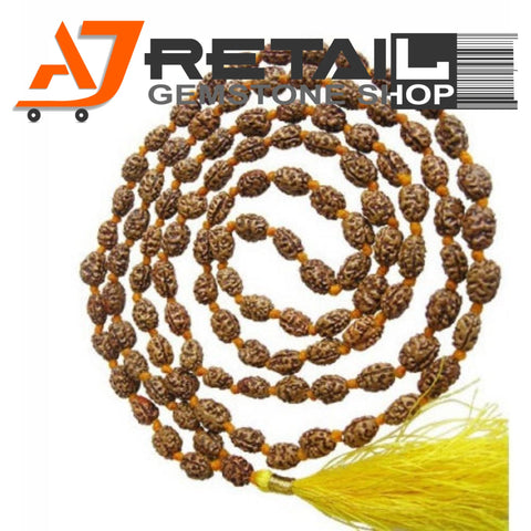 Indonesian Mala 2 Mukhi Beads 108 mm7-9 Certified Laboratory tested - Aj Retail (1) - Aj Retail - 1 Mukhi Rudraksha