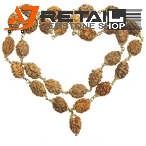 Indonesian Mala 2 Mukhi Beads 108 mm7-9 Certified Laboratory tested - Aj Retail (11) - Aj Retail - 1 Mukhi Rudraksha