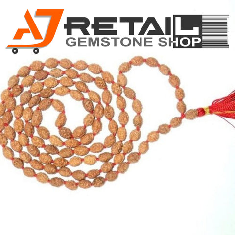 Indonesian Mala 2 Mukhi Beads 108 mm7-9 Certified Laboratory tested - Aj Retail (16) - Aj Retail - 1 Mukhi Rudraksha