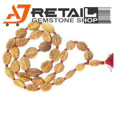 Indonesian Mala 2 Mukhi Beads 108 mm7-9 Certified Laboratory tested - Aj Retail (18) - Aj Retail - 1 Mukhi Rudraksha