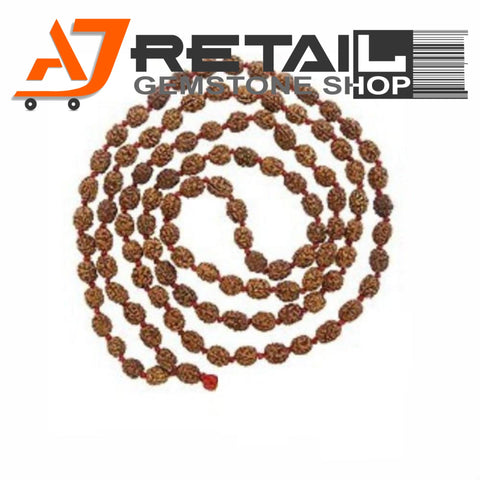 Indonesian Mala 2 Mukhi Beads 108 mm7-9 Certified Laboratory tested - Aj Retail (20) - Aj Retail - 1 Mukhi Rudraksha
