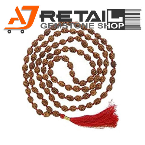 Indonesian Mala 2 Mukhi Beads 108 mm7-9 Certified Laboratory tested - Aj Retail (3) - Aj Retail - 1 Mukhi Rudraksha