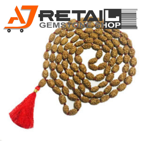 Indonesian Mala 2 Mukhi Beads 108 mm7-9 Certified Laboratory tested - Aj Retail (6) - Aj Retail - 1 Mukhi Rudraksha