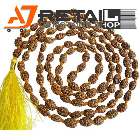 Indonesian Mala 2 Mukhi Beads 108 mm7-9 Certified Laboratory tested - Aj Retail (7) - Aj Retail - 1 Mukhi Rudraksha