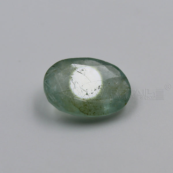 5.30 CARAT Panna Stone | Natural Emerald Gemstone AA+ Quality certified by IGL - 1 Mukhi Rudraksha