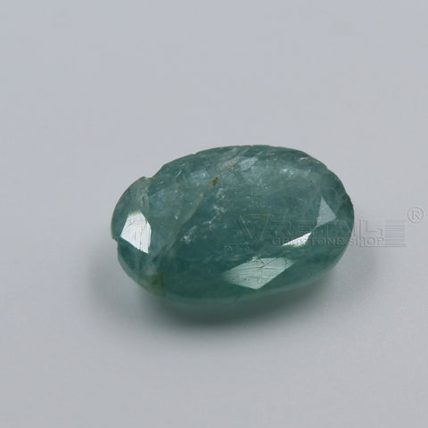 7.06 CARAT Panna Stone | Natural Emerald Gemstone AA+ Quality certified by IGL - 1 Mukhi Rudraksha