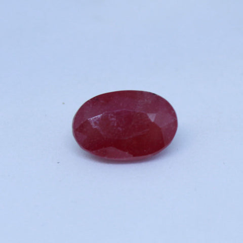 4.075 cts  Natural Ruby astrology purpose Manik and Cunni Stone - 1 Mukhi Rudraksha