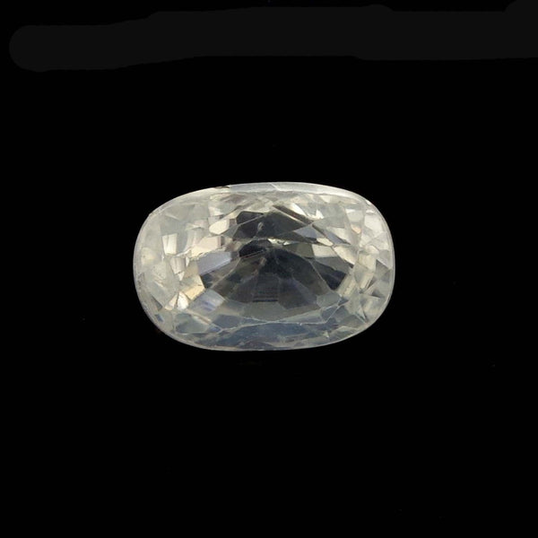 Natural zircon clear cut   8.03 Ratti IGL certified high quality zircon stone for ring - Aj retail - 1 Mukhi Rudraksha