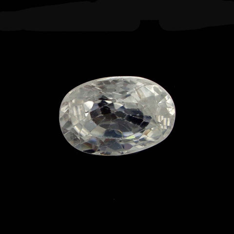 Natural zircon clear cut   9.75 Ratti IGL certified high quality zircon stone for ring - Aj retail - 1 Mukhi Rudraksha
