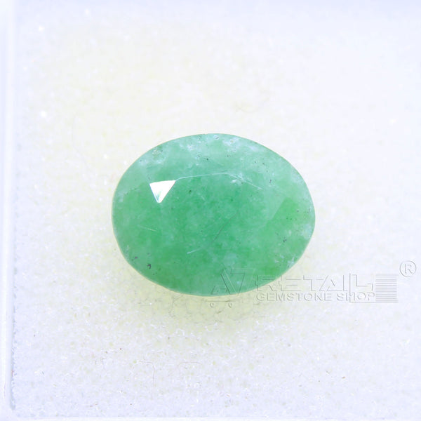 4.05 CARAT Panna Stone | Natural Emerald Gemstone AA+ Quality certified by IGL - 1 Mukhi Rudraksha