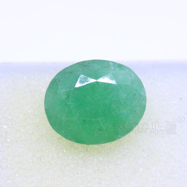 5.25 CARAT Panna Stone | Natural Emerald Gemstone AA+ Quality certified by IGL - 1 Mukhi Rudraksha