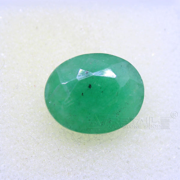 6.05 CARAT Panna Stone | Natural Emerald Gemstone AA+ Quality certified by IGL - 1 Mukhi Rudraksha