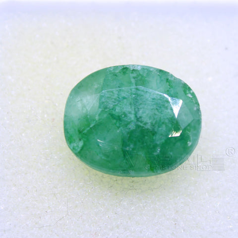9.05 CARAT Panna Stone | Natural Emerald Gemstone AA+ Quality certified by IGL - 1 Mukhi Rudraksha