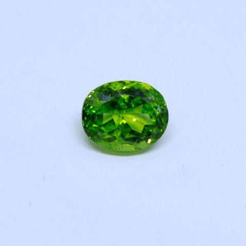 5.46 Carat Unheated and Untreated Natural Peridot with  trusted lab. certificate - 1 Mukhi Rudraksha