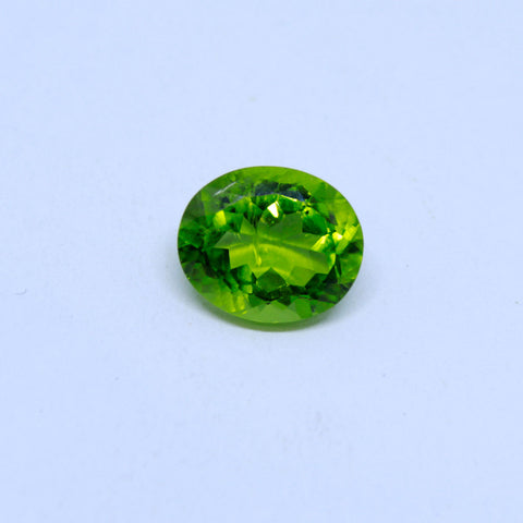 5.12 Carat Unheated and Untreated Natural Peridot with  trusted lab. certificate - 1 Mukhi Rudraksha
