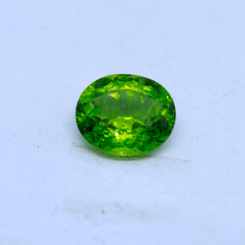 7.27 Carat Unheated and Untreated Natural Peridot with  trusted lab. certificate(A) - 1 Mukhi Rudraksha