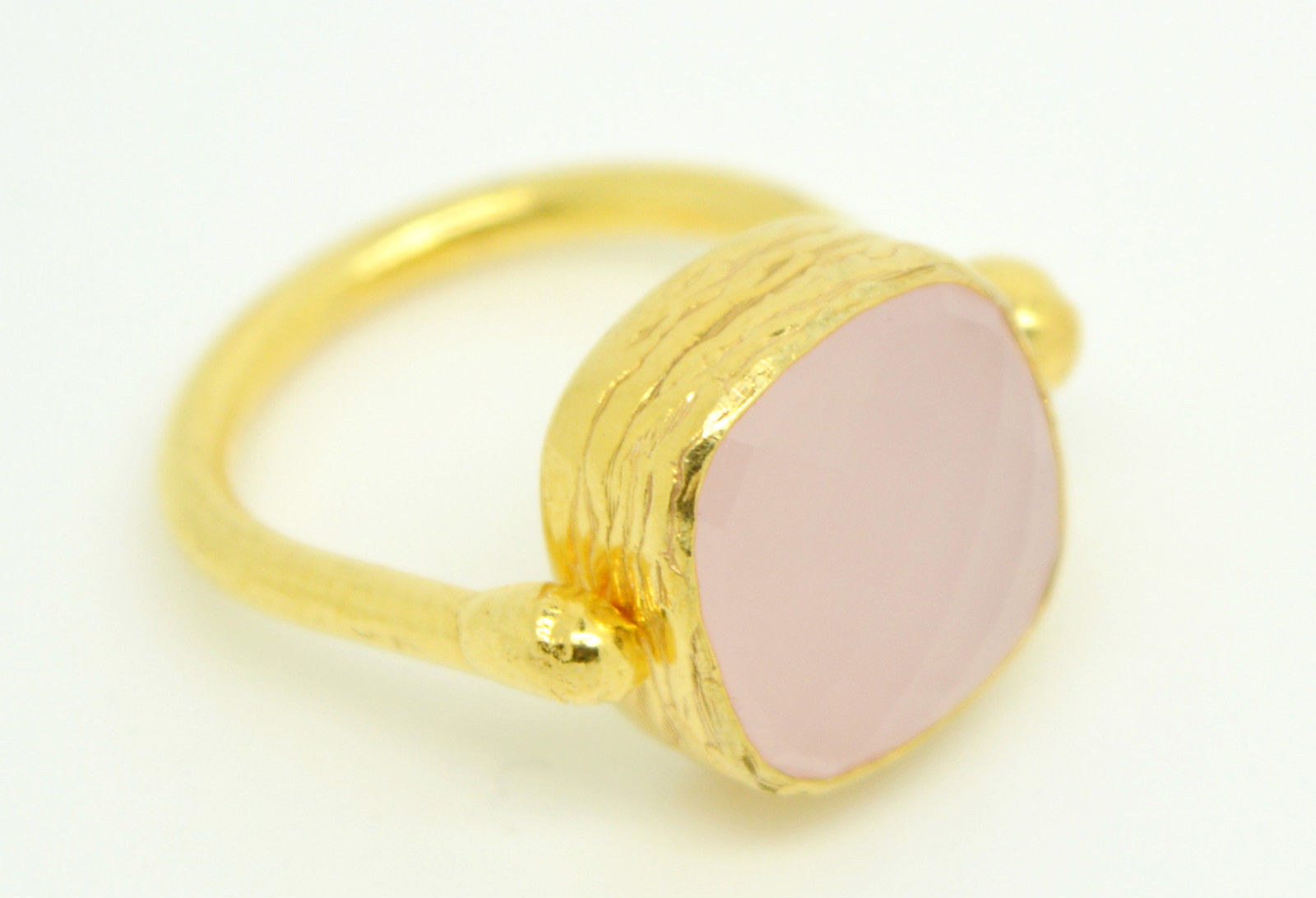 Aj Retail 7 50 Ratti Natural Certified Moon Stone gemstone with Gold plated  Ring