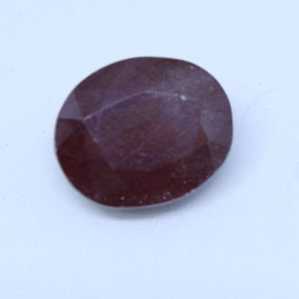 7.365 carats Certified Natural Ruby manik and cunni for astrology purpose - 1 Mukhi Rudraksha
