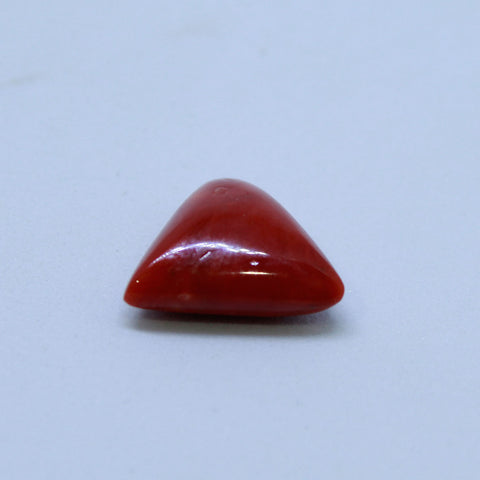 7.21 carat -  7.75 ratti Moonga stone natural Red Coral certified by IGL
