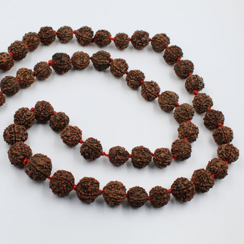 Natural 5 Mukhi Rudraksha Jaap Mala 18mm to 25mm (55 pieces) start @ Rs.1100/- only - 1 Mukhi Rudraksha