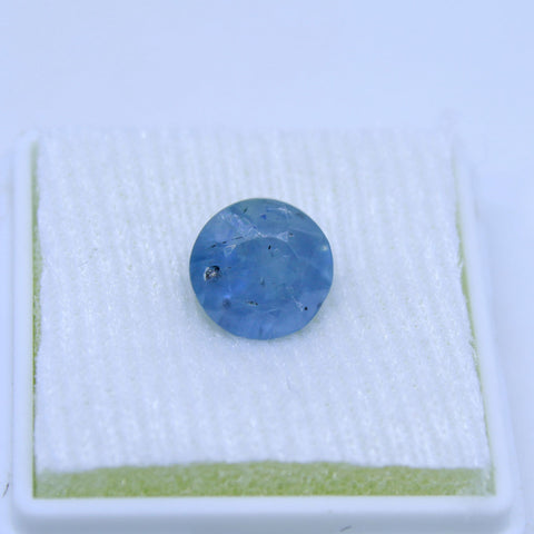 3.76 Cts Natural Blue sapphire Neelam Gemstone gemology lab certified - 1 Mukhi Rudraksha