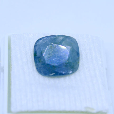5.87 Cts Natural Blue sapphire Neelam Gemstone gemology lab certified - 1 Mukhi Rudraksha