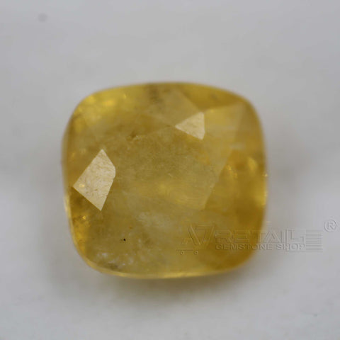 Natural PUKHRAJ 5.12 carat premium quality Unheated | Untreated  YELLOW SAPPHIRE - 1 Mukhi Rudraksha